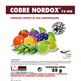 Fungicida coure mullable Nordox 25gr.