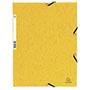 Carpeta gomas bolsa folio amarilla