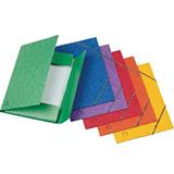 Carpeta gomas bolsa folio azul