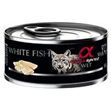Alpha spirit gatos pescado blanco