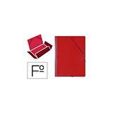 Carpeta gomas bolsa folio roja
