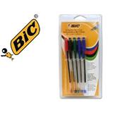Bolígrafo bic cristal azul, negro, rojo y verde 41