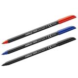 Rotulador edding 1200 negro, azul y rojo