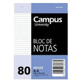 Bloc notas Campus A6 cuadriculado 60g 80 hojas