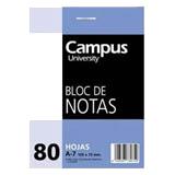 Bloc notas Campus A7 liso 60g 80 hojas