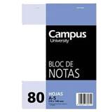 Bloc notas Campus A5 liso 60g 80 hojas