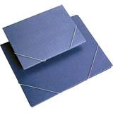 Carpeta azul solapa folio