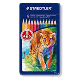 Colores staedtler madera caja metal 12u