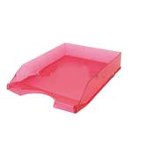 Safata plàstic sobretaula frosted vermell 0190