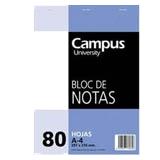 Bloc notas Campus A4 liso 60g 80 hojas