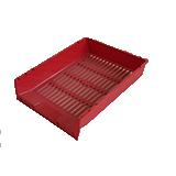 Safata de plàstic vermella