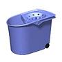 Cubell escorredor amb rodes blau