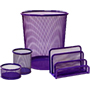 Set rejilla 4 piezas violeta