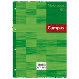 Recambio Campus A4 cuadriculado 90g verde 100H