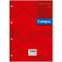 Recambio Campus A4 cuadriculado 90g rojo 100 hojas