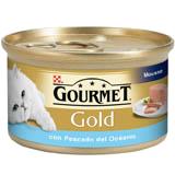Gourmet gold mousse peces del océano