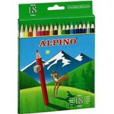 Colores alpino madera largos 18u