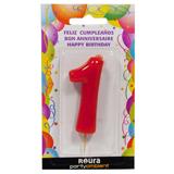 Espelma aniversari vermella nº1 370810