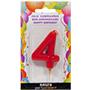 Espelma aniversari vermella nº4 370840