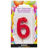 Espelma aniversari vermella nº6 370860