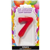 Espelma aniversari vermella nº7 370870