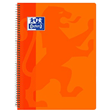 Cuaderno Oxford folio cuadriculado 90g pp naranja