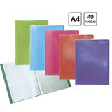 Carpeta plus office 40 fundas A4 colores M03179