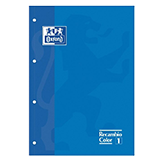 Recambio Oxford A4 cuadriculado 90g azul 80 hojas