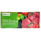 Bayeco bolsas congelar cierre zip 17x25 20u