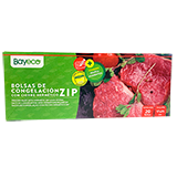 Bayeco bosses congelar tancament zip 17x25 20u