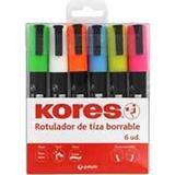 Rotulador kores tiza líquida borrable 6u 30212599