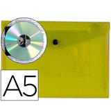 Carpeta csp broche A5 AMARILLA 28984
