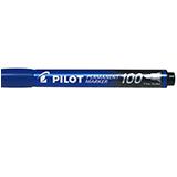 Rotulador Pilot permanente 100 azul