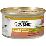 Gourmet gold mousse pato/espinacas