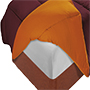 Edredon nordico reversible bicolor marron/naranja 150x220 cm.