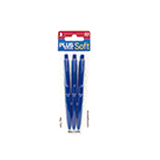 Bolígrafo plus office soft azul 3 unidades B00040