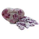 Caramels pastilles violetes.