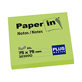 Notes paper-in 76x76 groc 100 fulls