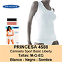 Samarreta princesa 4588 blanca talla s.