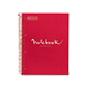 Cuaderno MRius A4 cuadriculado 90g rojo 80 hojas