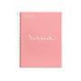 Cuaderno MRius A4 cuadriculado 90g rosa 80 hojas