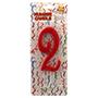 Espelma vermella nº 2 12 cm 32552