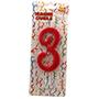 Espelma vermella nº3 12cm 32553