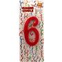 Espelma vermella nº 6 12 cm 32556