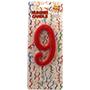 Espelma vermella nº9 12 cm 32559