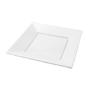 Plats quadrats 17cm blanc