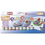 Témperas sólidas textil Playcolor 12u