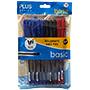 Bolígraf plus basic blau, vermell i negre 10u B001