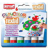 Témperas sólidas textil Playcolor 6u
