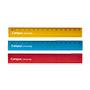 Regla aluminio 10cm colores
